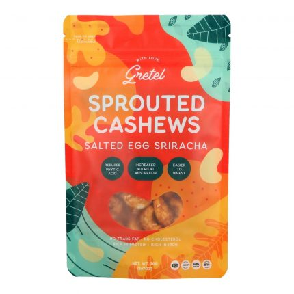 Gretel Sprouted Cashews Salted Egg Sriracha 70g