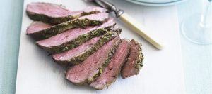 Barbecued Leg of Lamb with a Rosemary Rub