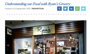 School Notice Singapore: Understanding Our Food with Ryan's Grocery