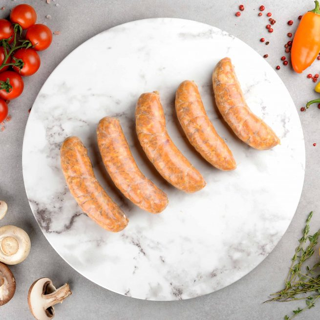 Classic Chicken Madras Curry Sausage