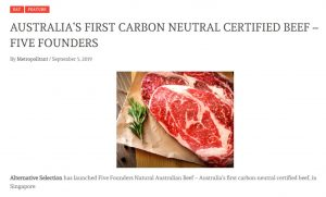 Metropolitant: Australia's First Carbon Neutral Certified Beef- Five Founders