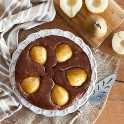 Walnut Chantilly with Pears and Chocolate
