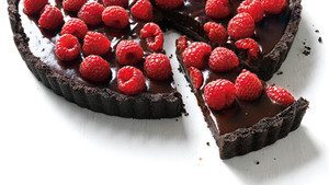Orasi Raspberry and Dark chocolate tart