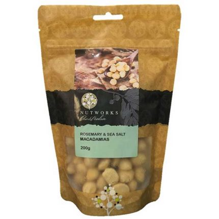 Nutworks Rosemary & Seasalt Macadamias Nuts 200g