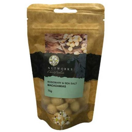 Nutworks Rosemary & Seasalt Macadamias Nuts 75g