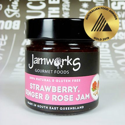 Jamworks Strawberry, Ginger & Rose Jam 300g