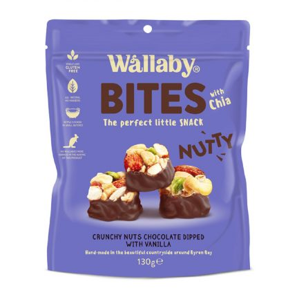 Wallaby Nutty BITES - Vanilla Front