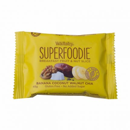 Wallaby Superfoodie Breakfast Slices - Banana Coconut Walnut Chia Front