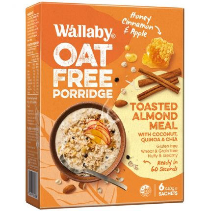 Wallaby_OatFree_Porridge_HoneyCinnamonApple Front