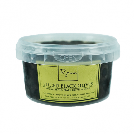 Ryan's Sliced Black Olives 200g