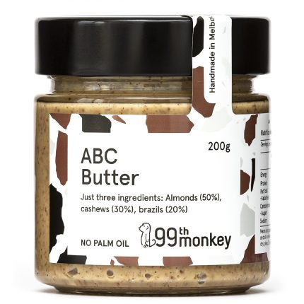 99th Monkey - Almond Brazil Cashew Butter 200g Front