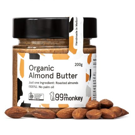 99th Monkey - Organic Almond Butter 200g Front