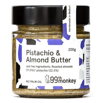 99th Monkey - Pistachio and Almond Butter 200g Front