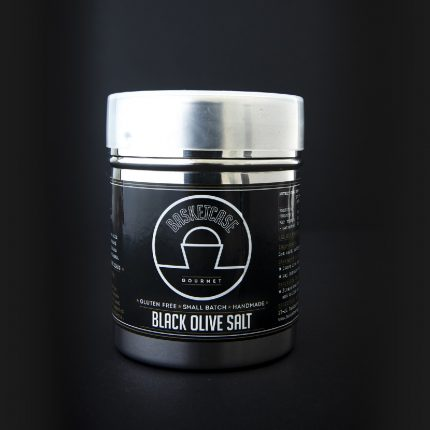 Basket Case - Black Olive Salt 100g Front