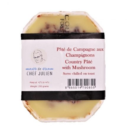 De Chef Julien Country Pate Mushroom 250g Front