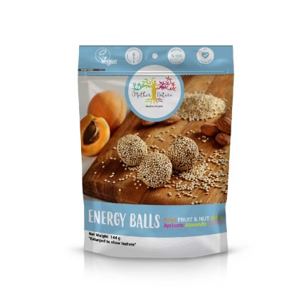 Mother Nature Energy Balls - Apricot & Almond & Quinoa 144g Front