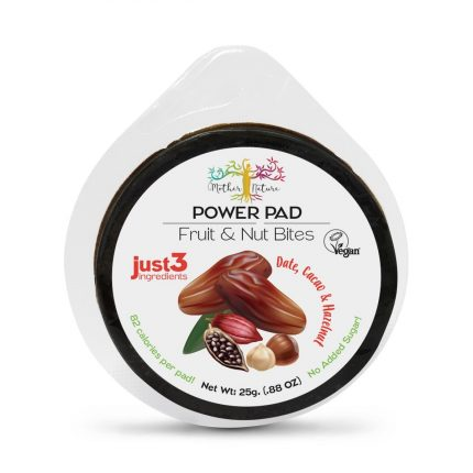 Mother Nature Power Pads - Date & Hazelnut & Cacao 25g Front
