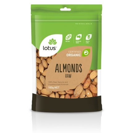 Lotus Organic Raw Almond 100g