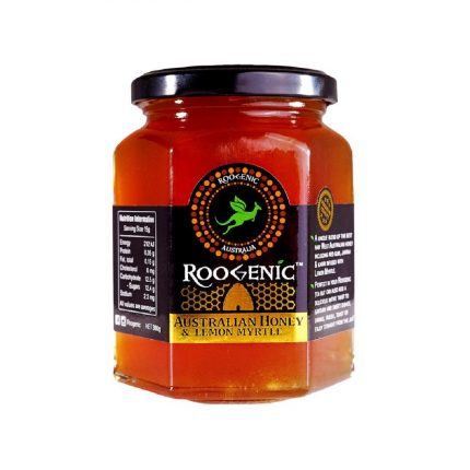 Roogenic - Australian Honey Infused with Lemon Myrtle 380g Front