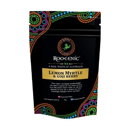 Roogenic - Lemon Myrtle & Goji Berry pouch 75g Front