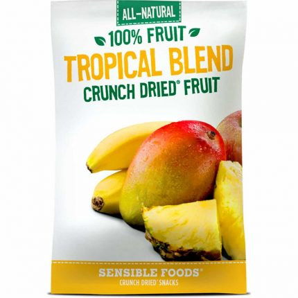 All Natural 100% Tropical Blend Crunch Dried Fruit 9g Front