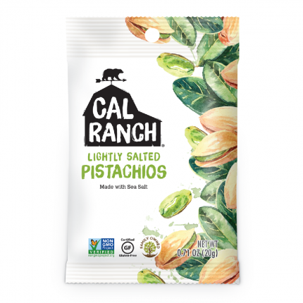 Cal Ranch Lightly Salted Pistachio 20g Front