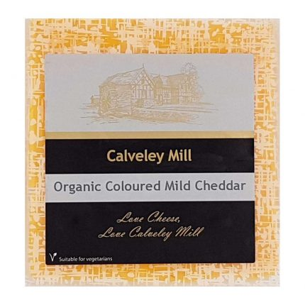 Calveley Mill Organic Coloured Mild Cheddar Cheese 200g