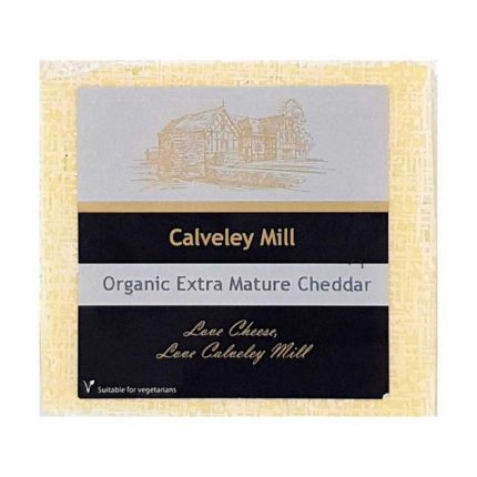 Calveley Mill Organic White Extra Mature Cheddar 200g Front