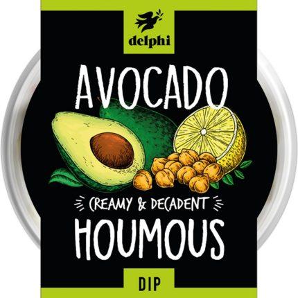 Delphi Food Avocado And Houmous Dip 150g Front