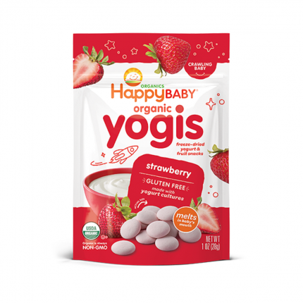 Happy Family Happy Baby Organic Yogis - Strawberry Front