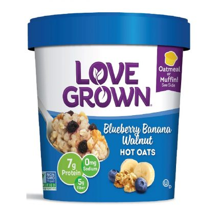 Love Grown Blueberry Banana Walnut Hot Oats 63g Front