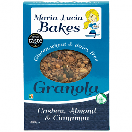 Maria Lucia Bakes Cashew Almond and Cinnamon Granola Front