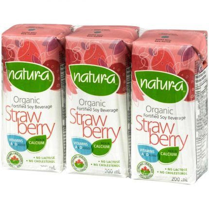 Natur-A Enriched Soy Beverage - Strawberry (Organic) Front