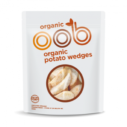 OOB Organic Potato Wedges - Frozen Front