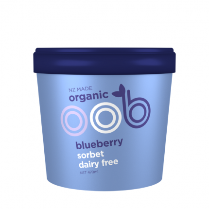 OOB Organic Sorbet Dairy Free - Blueberry Front