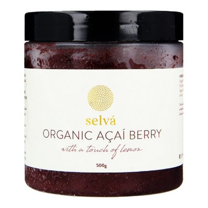 Organic Acai Berry Sorbet with Lemon Front