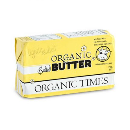 Organic Times Salted Butter 250g Front