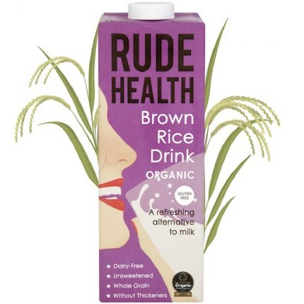 Rude Health Organic Dairy Free Drink Brown Rice 1L Front