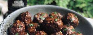 Grilled Meat, Glazed Meatballs
