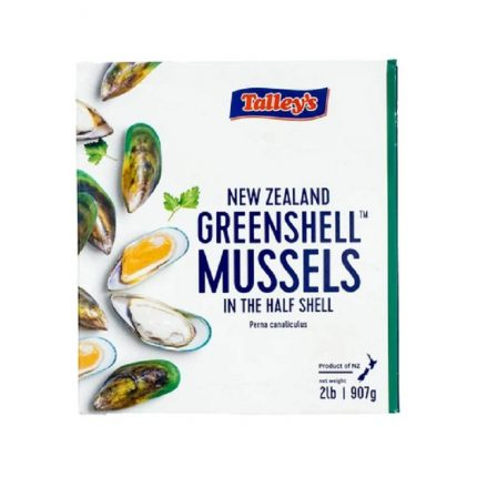 Talley New Zealand Greenshell Mussels in Half Shell Front