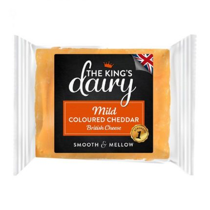 The King's Dairy Mild Coloured Cheddar Cheese 200g Front