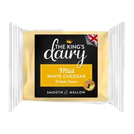 The King's Dairy Mild White Cheddar 200g Front
