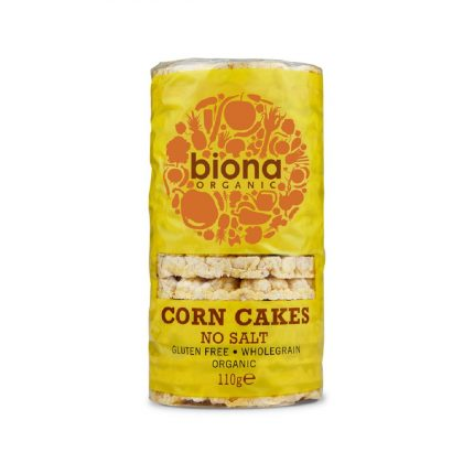 Biona Organic Corn Cakes with No Salt 100g Front