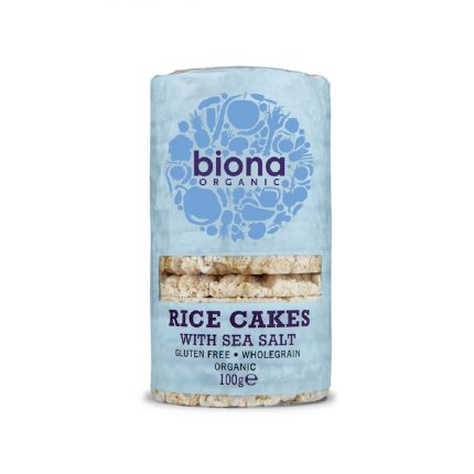Biona Organic Rice Cakes with Salt 100g Front