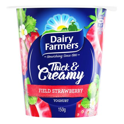 Dairy Farmers Strawberry Yoghurt 150g Front