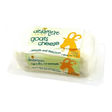 Delamere Dairy Natural Goat's Cheese - Mini Log 125g Front