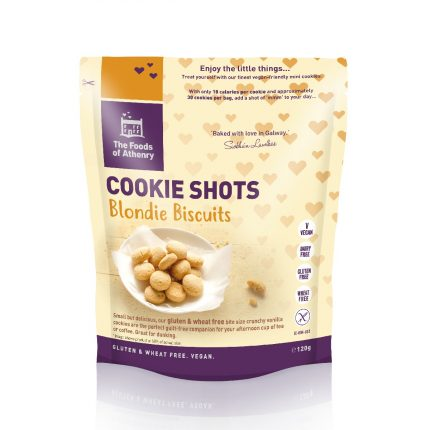 Foods of Anthenry Cookie Shots Blondie Biscuits 120g Front