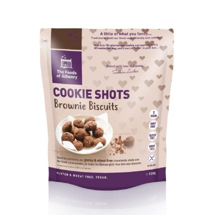 Foods of Anthenry Cookie Shots Brownie Biscuits 120g Front