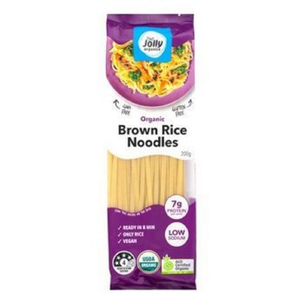 Jolly Organic Brown Rice Noodles 200g Front