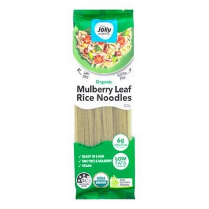 Jolly Organic Mulberry Leaf Rice Noodles 200g Front
